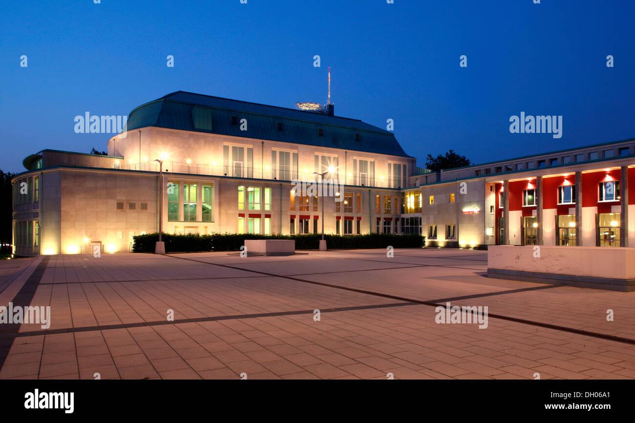 Roofed hall, philharmonic hall, Essen, Ruhr Area, North Rhine-Westphalia Stock Photo
