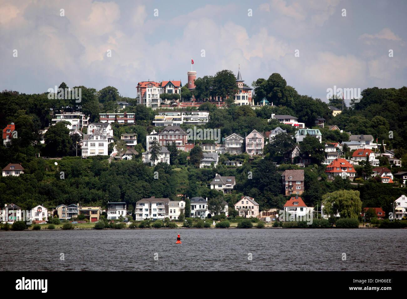 Elbe riverside suburb, Blankenese, Suellberg hill, Hamburg - Stock Image