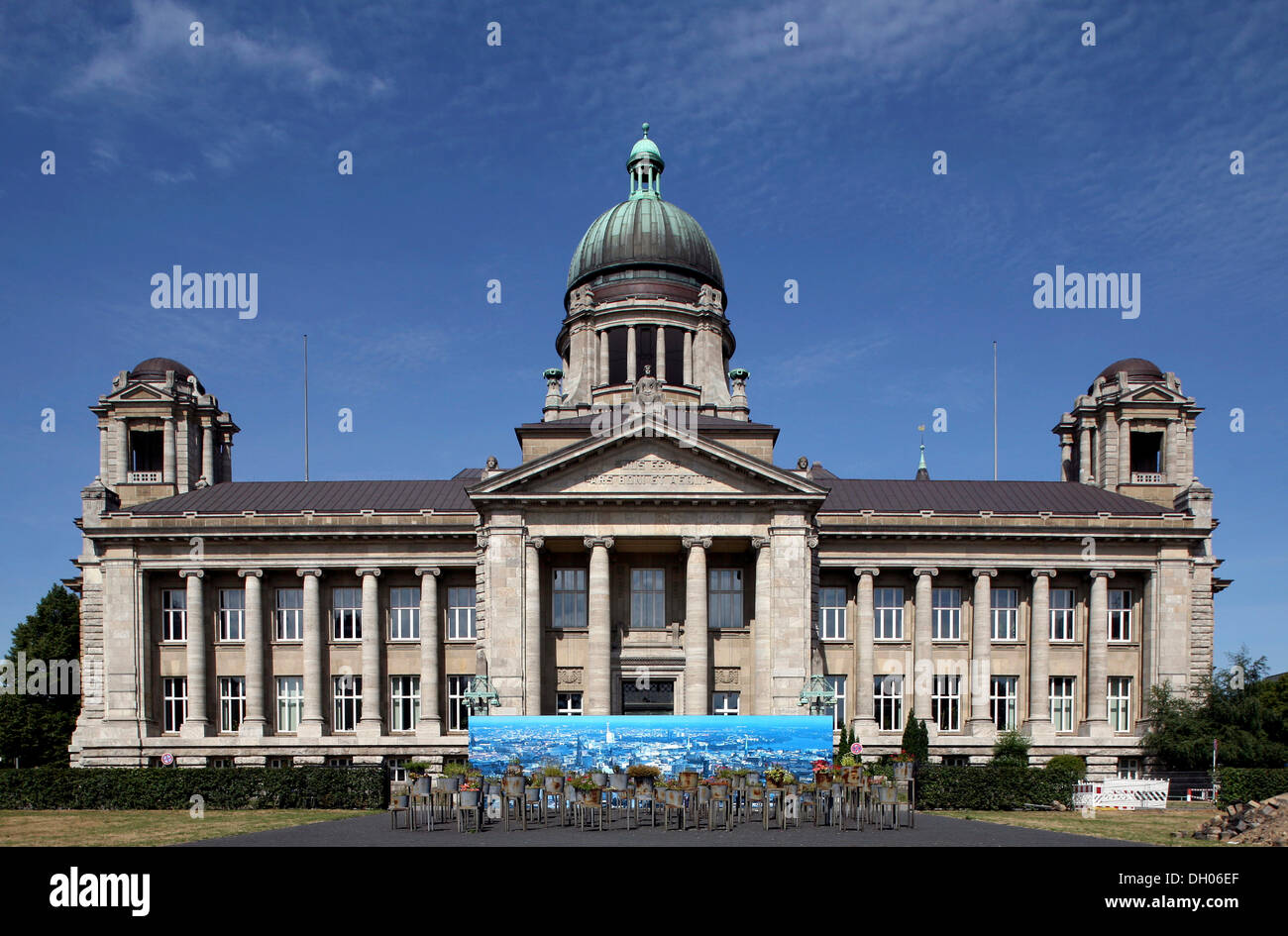 Provincial High Court and Court of Appeal, Hamburg - Stock Image