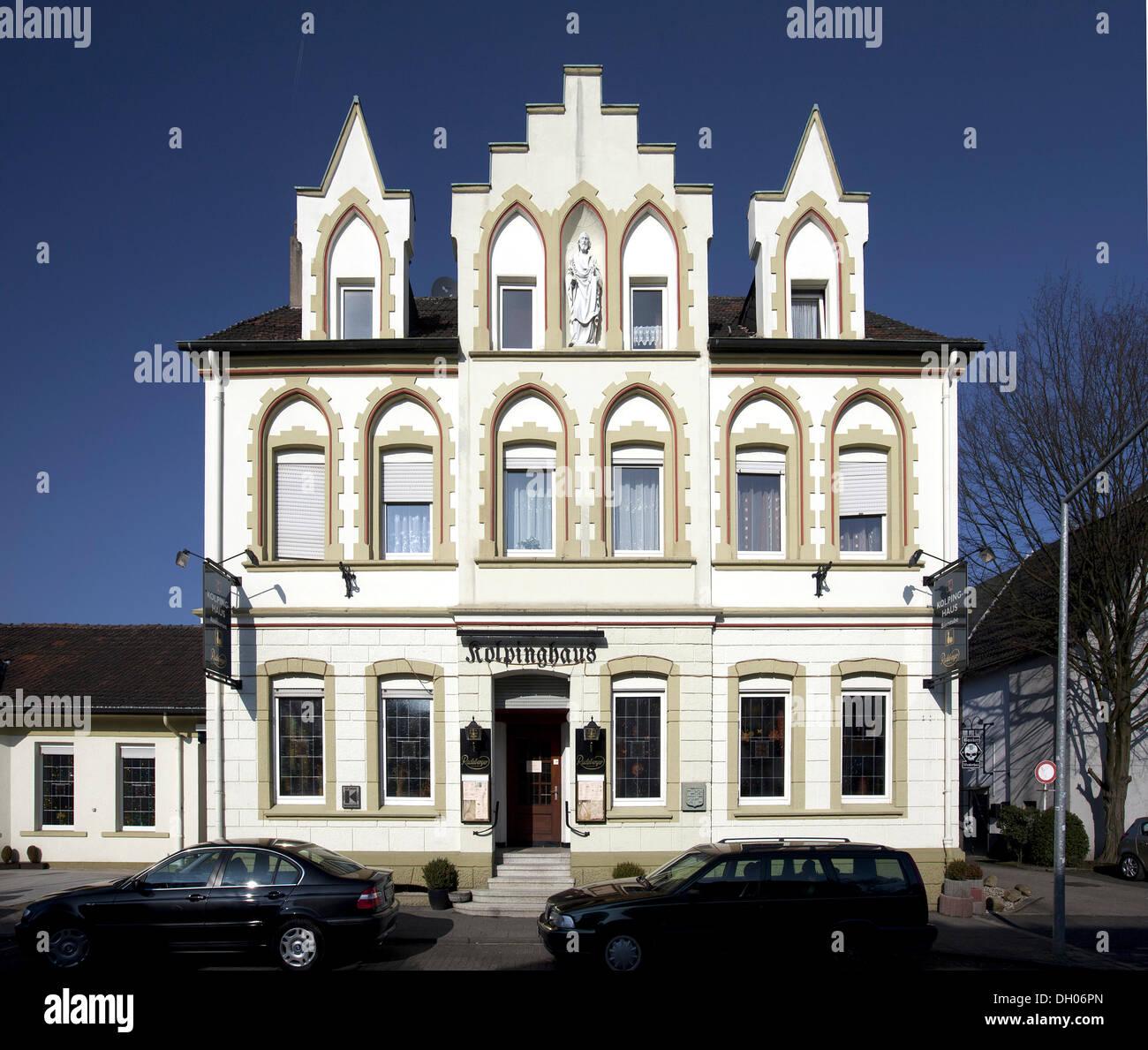 Kolping House, Herten, Westerholt district, Ruhr Area, North Rhine-Westphalia, PublicGround - Stock Image