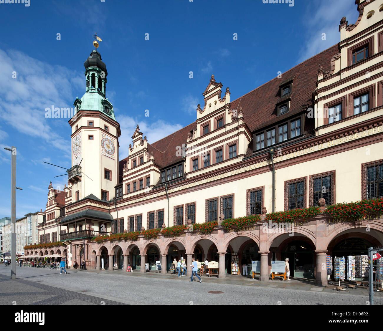 Old town hall, Leipzig, Saxony, PublicGround - Stock Image