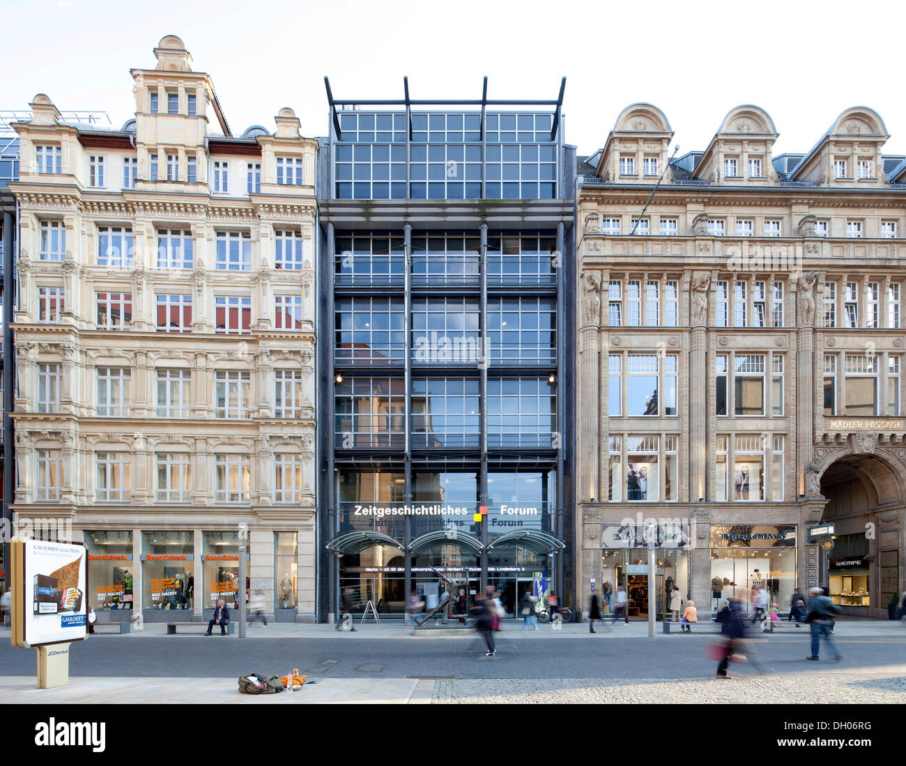 Forum of Contemporary History, Museum of the History of the Federal Republic of Germany, Maedlerpassage shopping arcade, Leipzig - Stock Image