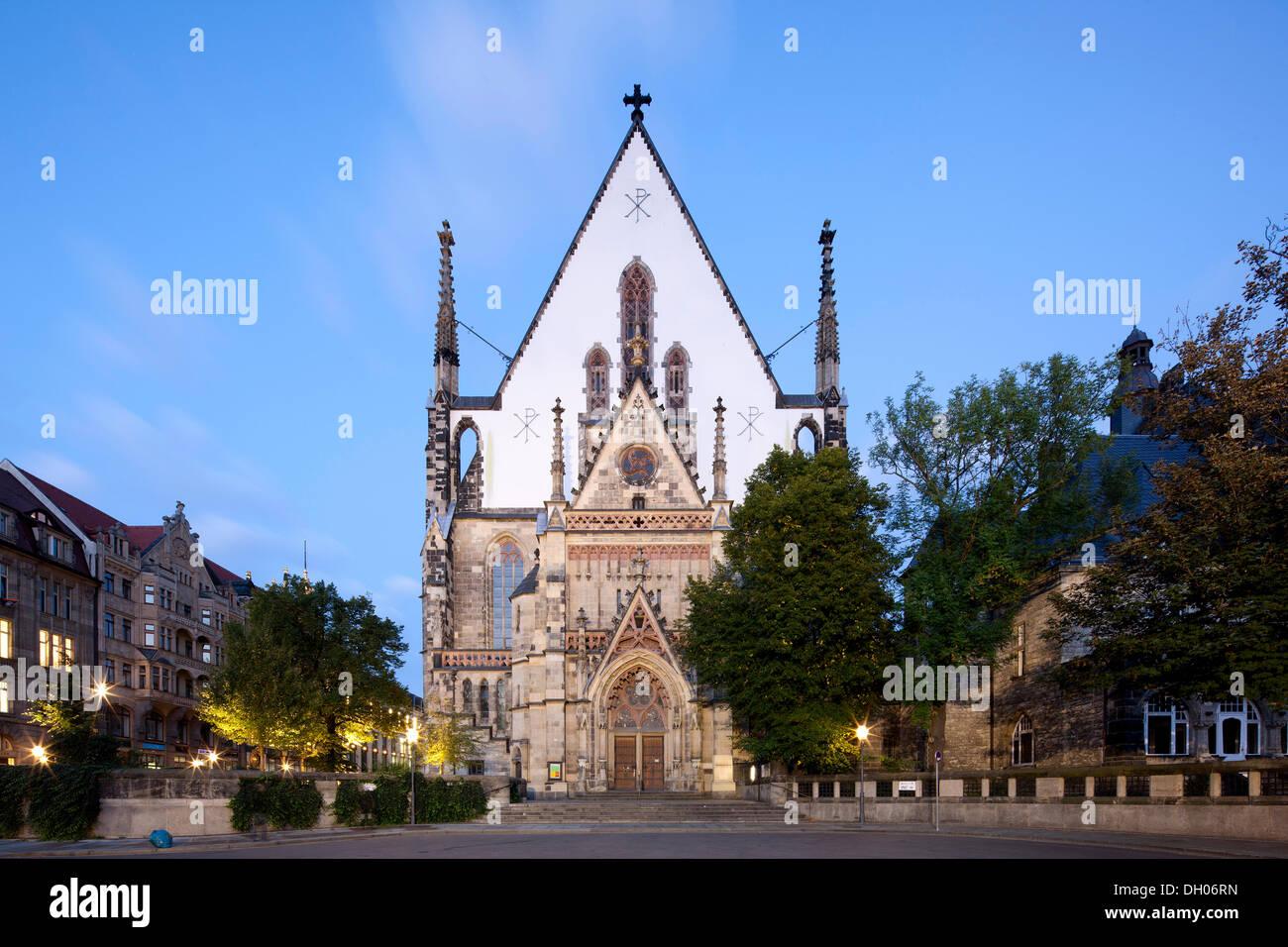 St. Thomas Church, Leipzig, Saxony, PublicGround - Stock Image
