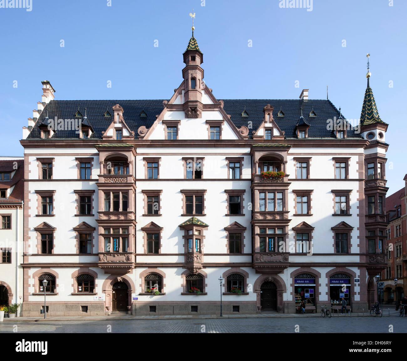 Predigerhaus building, Leipzig, Saxony, PublicGround - Stock Image