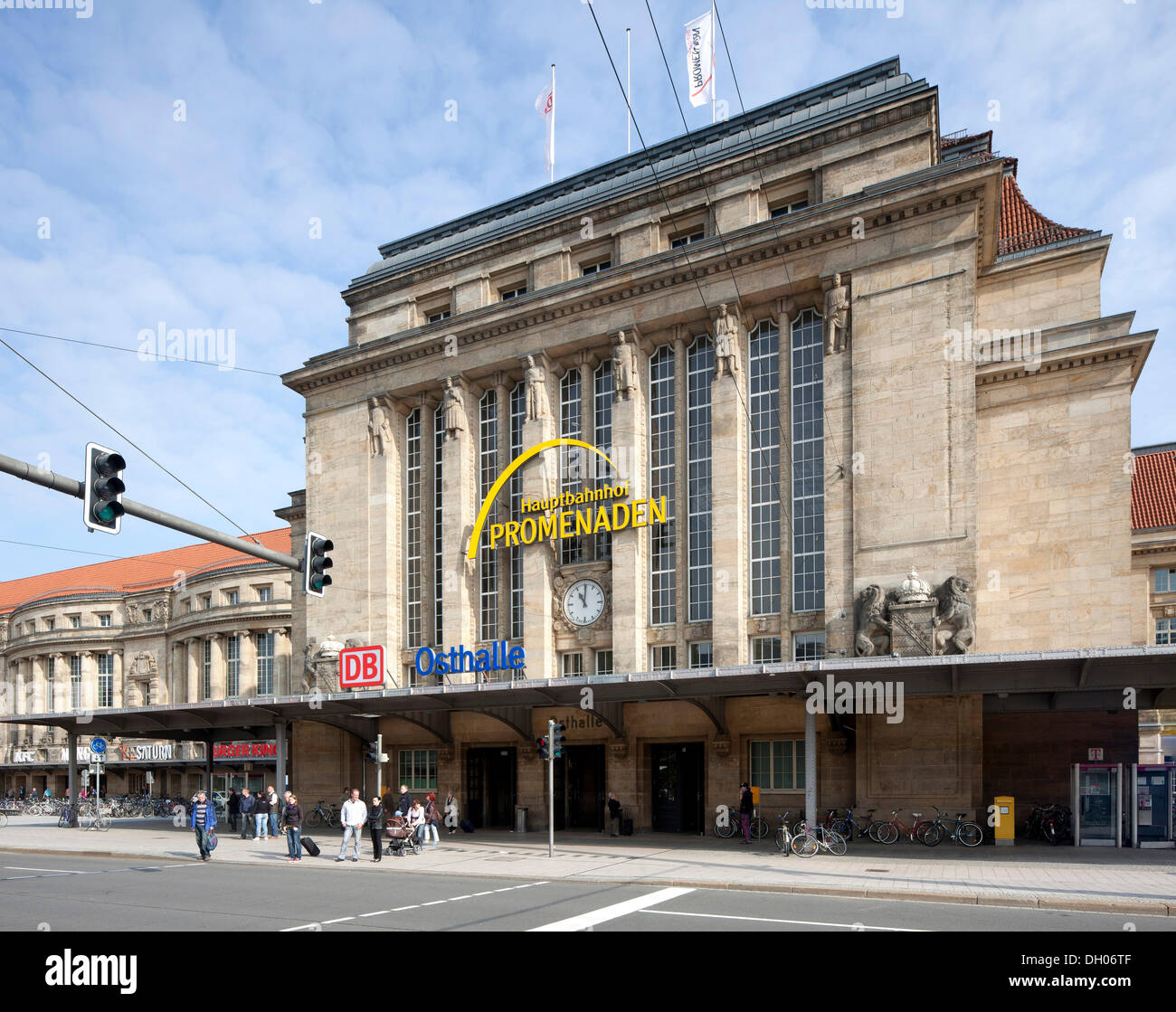 Central railway station, Leipzig, PublicGround - Stock Image
