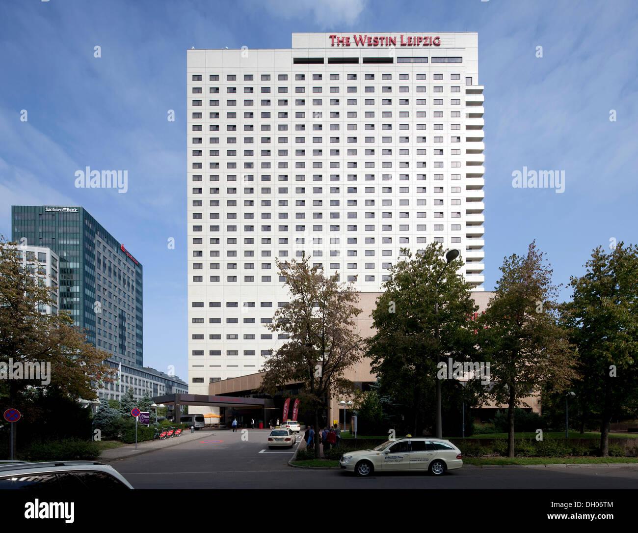 The Westin Hotel, Leipzig, PublicGround - Stock Image