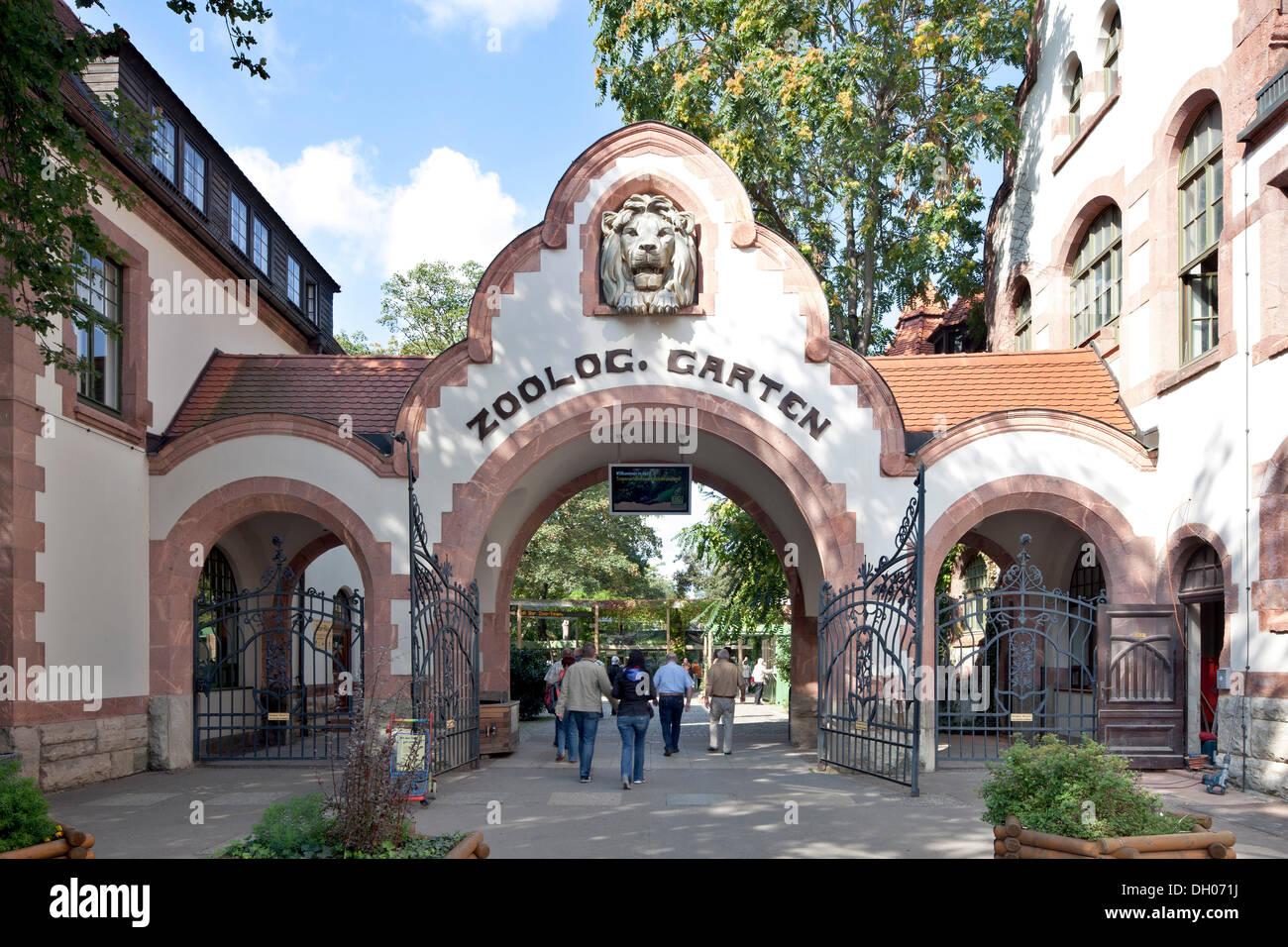 Foyer Entry Zoo : Main entrance of the zoo leipzig publicground stock