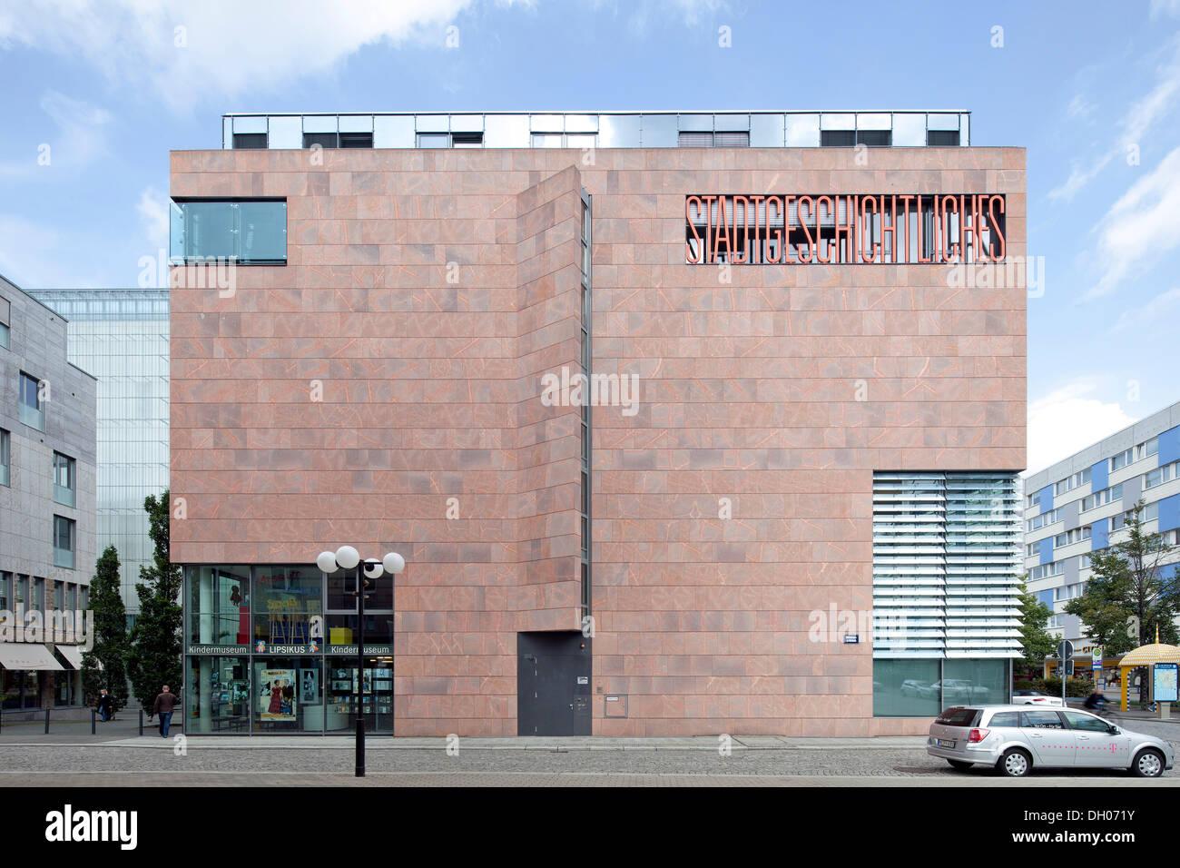 Museum of local history, Leipzig, PublicGround - Stock Image
