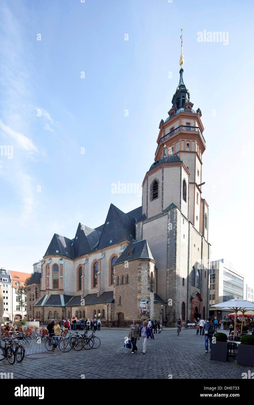 St. Nicholas Church in Leipzig, Saxony, PublicGround - Stock Image