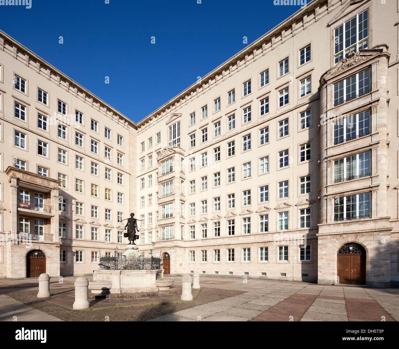 Ringbebauung buildings, Socialist Classicism, Leipzig, PublicGround - Stock Image