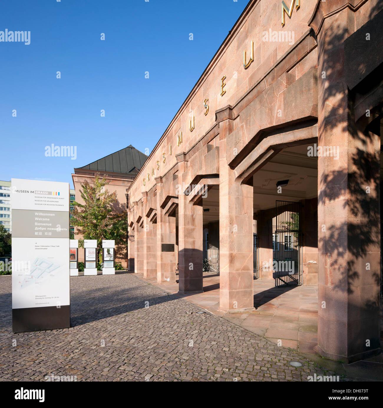 Grassi Museum, Leipzig, PublicGround - Stock Image