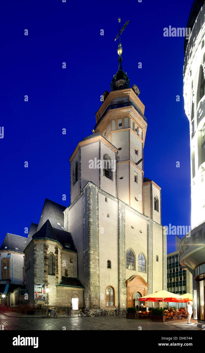 St. Nicholas Church, Leipzig, Saxony, PublicGround - Stock Image
