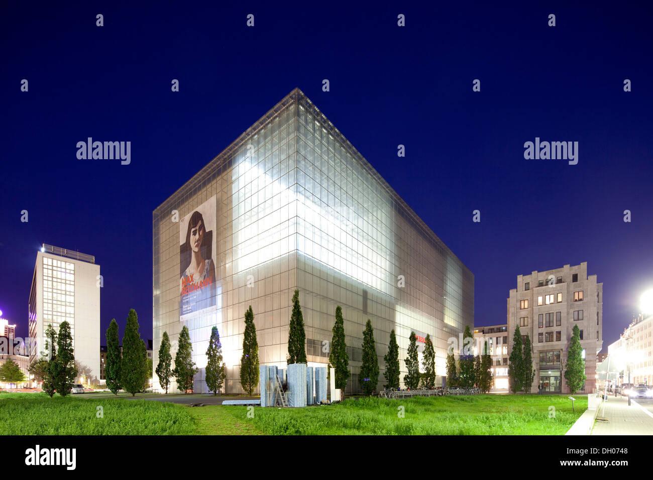 Museum of fine arts, Leipzig, Saxony, PublicGround - Stock Image