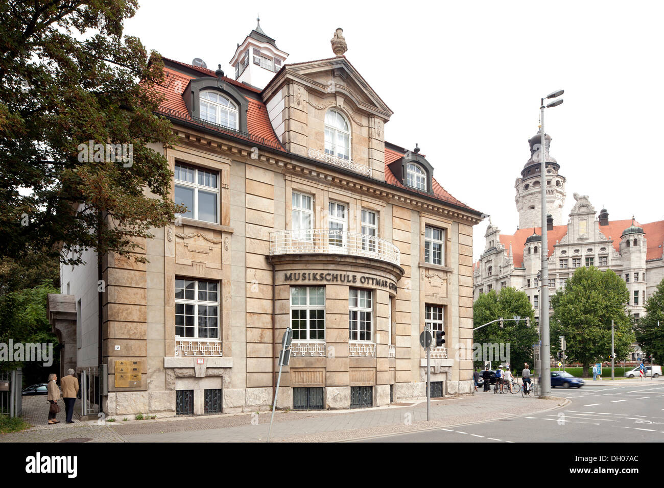 Nauhardt Villa, formerly the Ottmar Gerster music school, Leipzig, Saxony, PublicGroundStock Photo