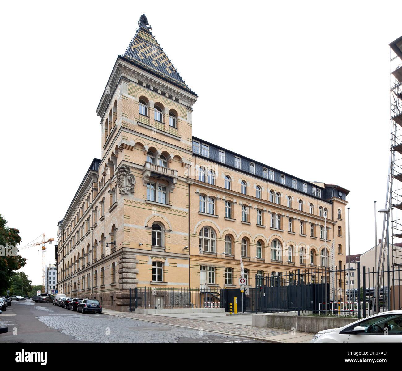 Police headquarters, Leipzig, Saxony, PublicGround - Stock Image