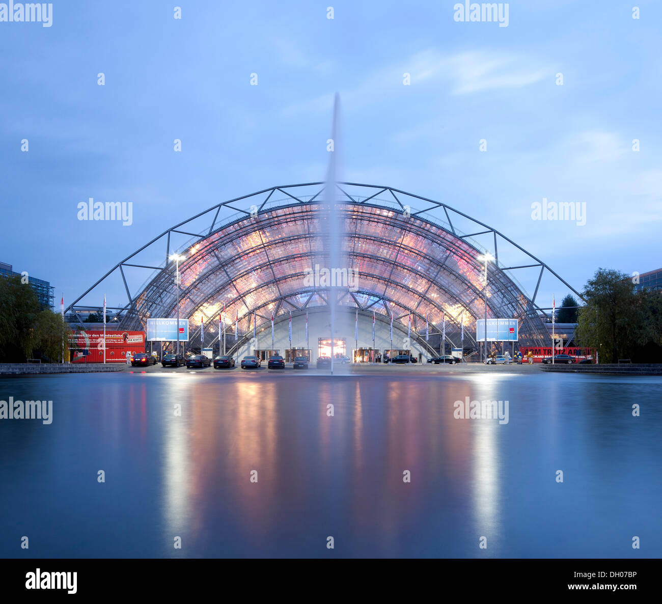 Leipzig Trade Fair, Leipzig, Saxony, PublicGround - Stock Image