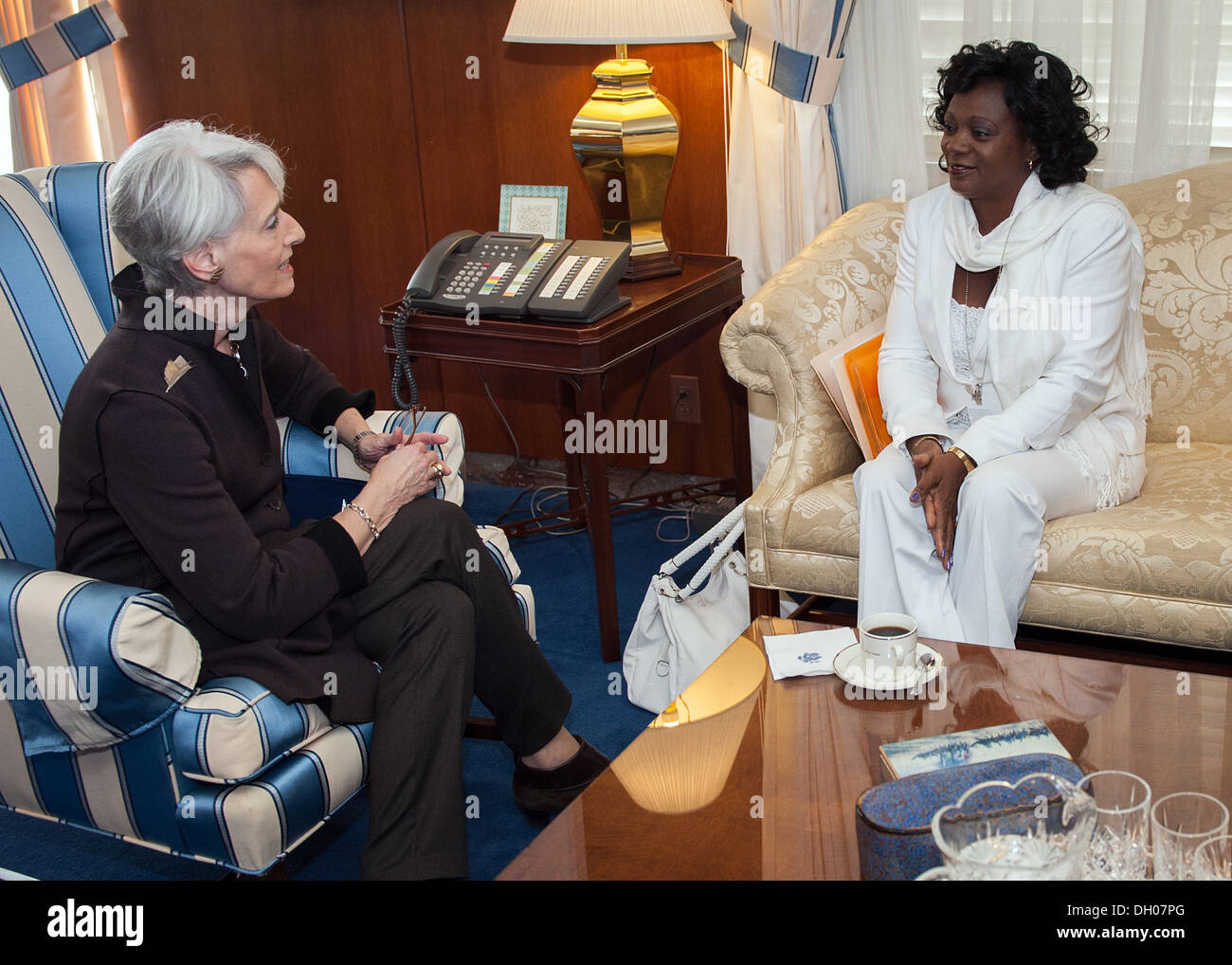 Under Secretary Sherman Meets With Berta Soler of the Ladies in White Stock Photo