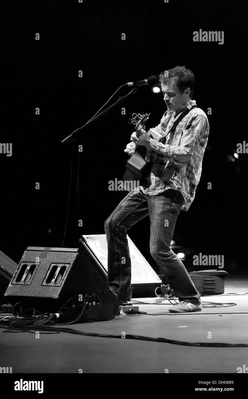 Irish song-writer Damien Rice performs at Auditorium Parco della Musica, Rome (IT) 2012 Stock Photo