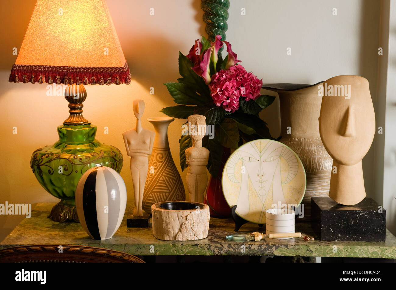 A collection of various objects and artefact's - Stock Image