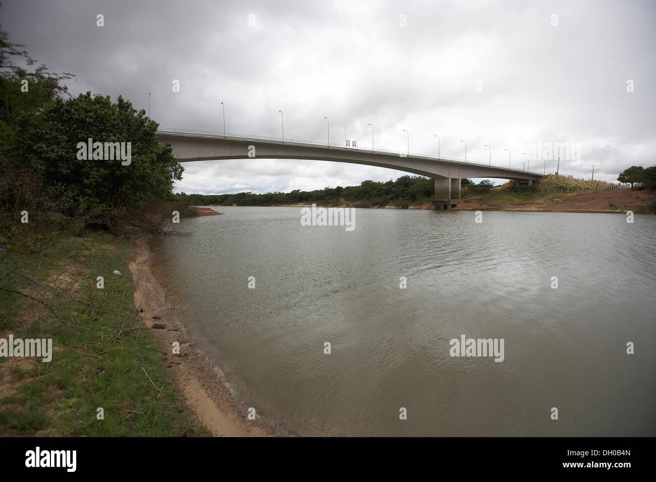 The new border bridge in Letham, Guyana, South America - Stock Image