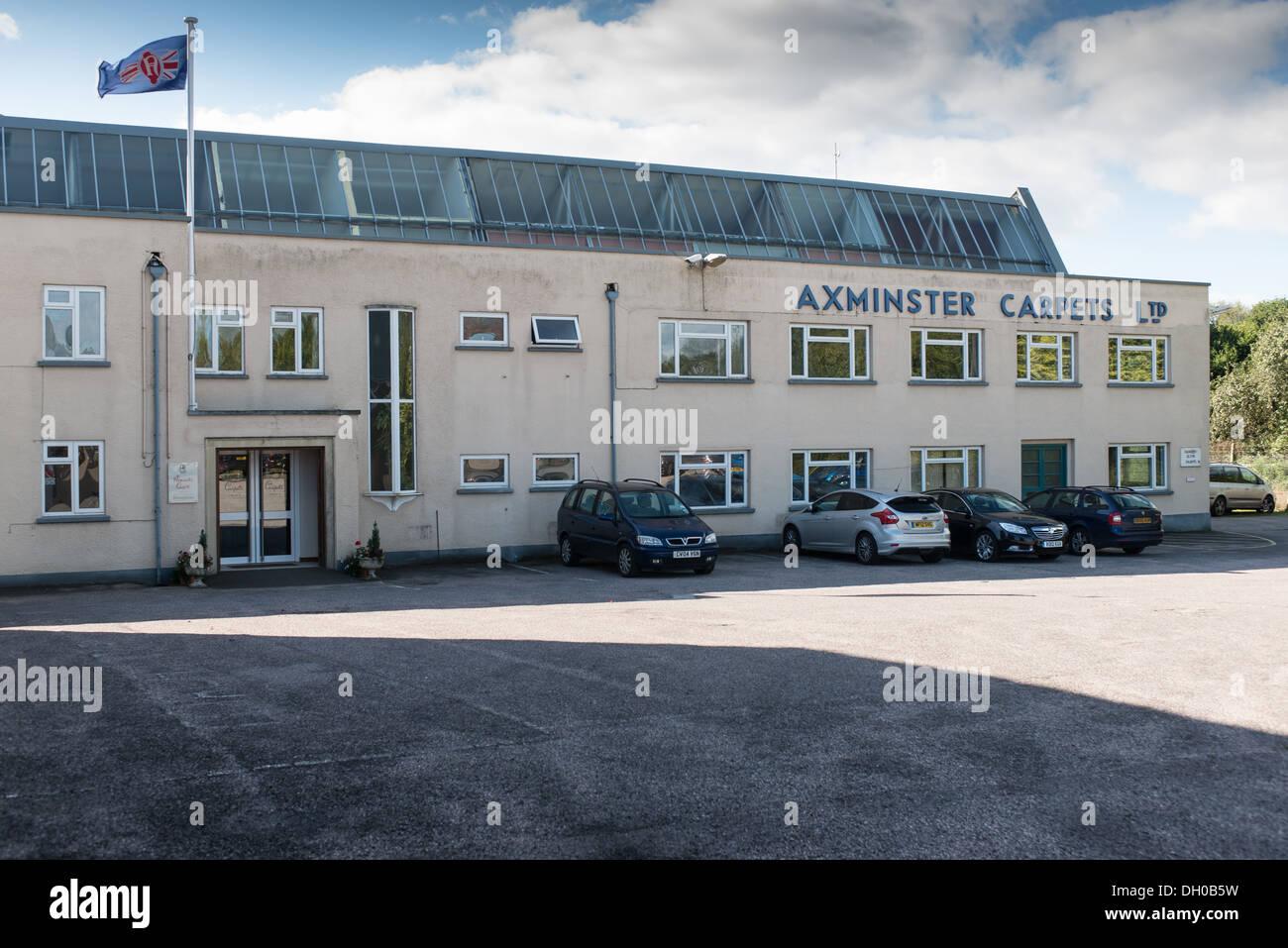 Axminster carpets factory in Devon - Stock Image