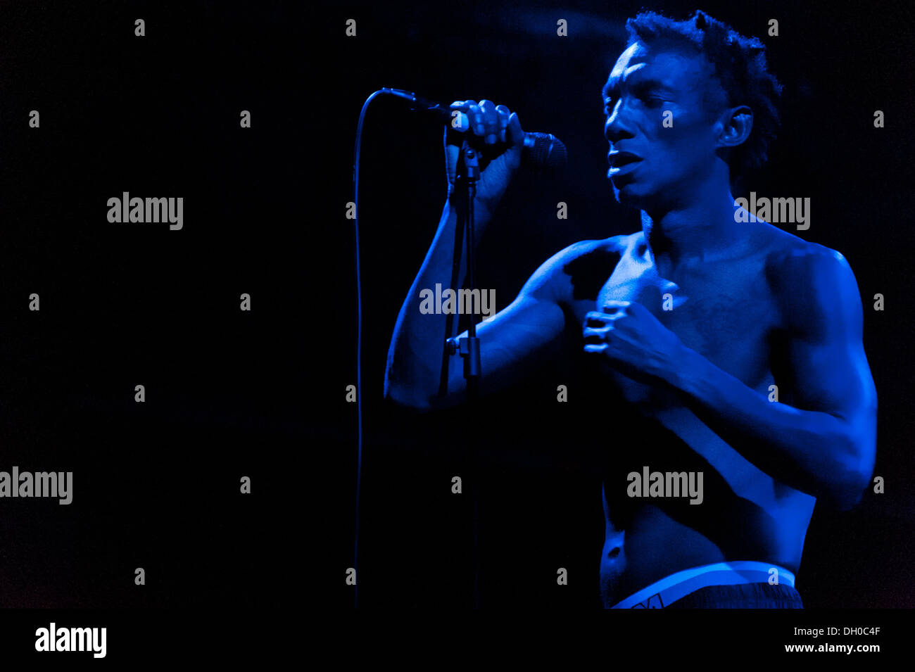 Tricky performs at Villa Ada Festival 2012. Stock Photo