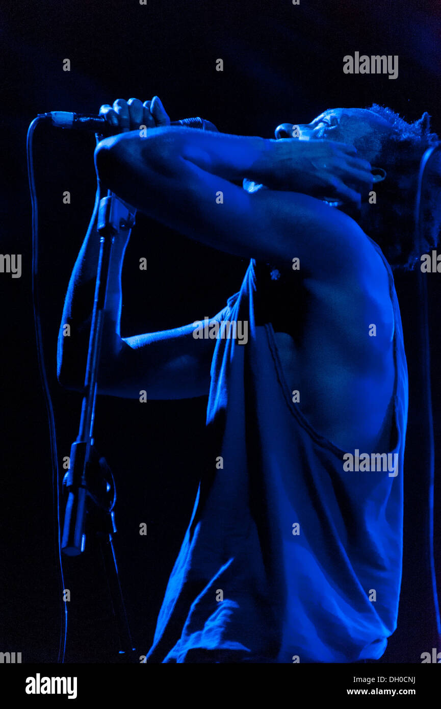 Tricky performs at Villa Ada Festival 2012. - Stock Image