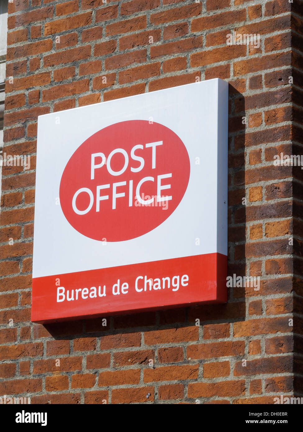 Post Office Bureau de change - Stock Image