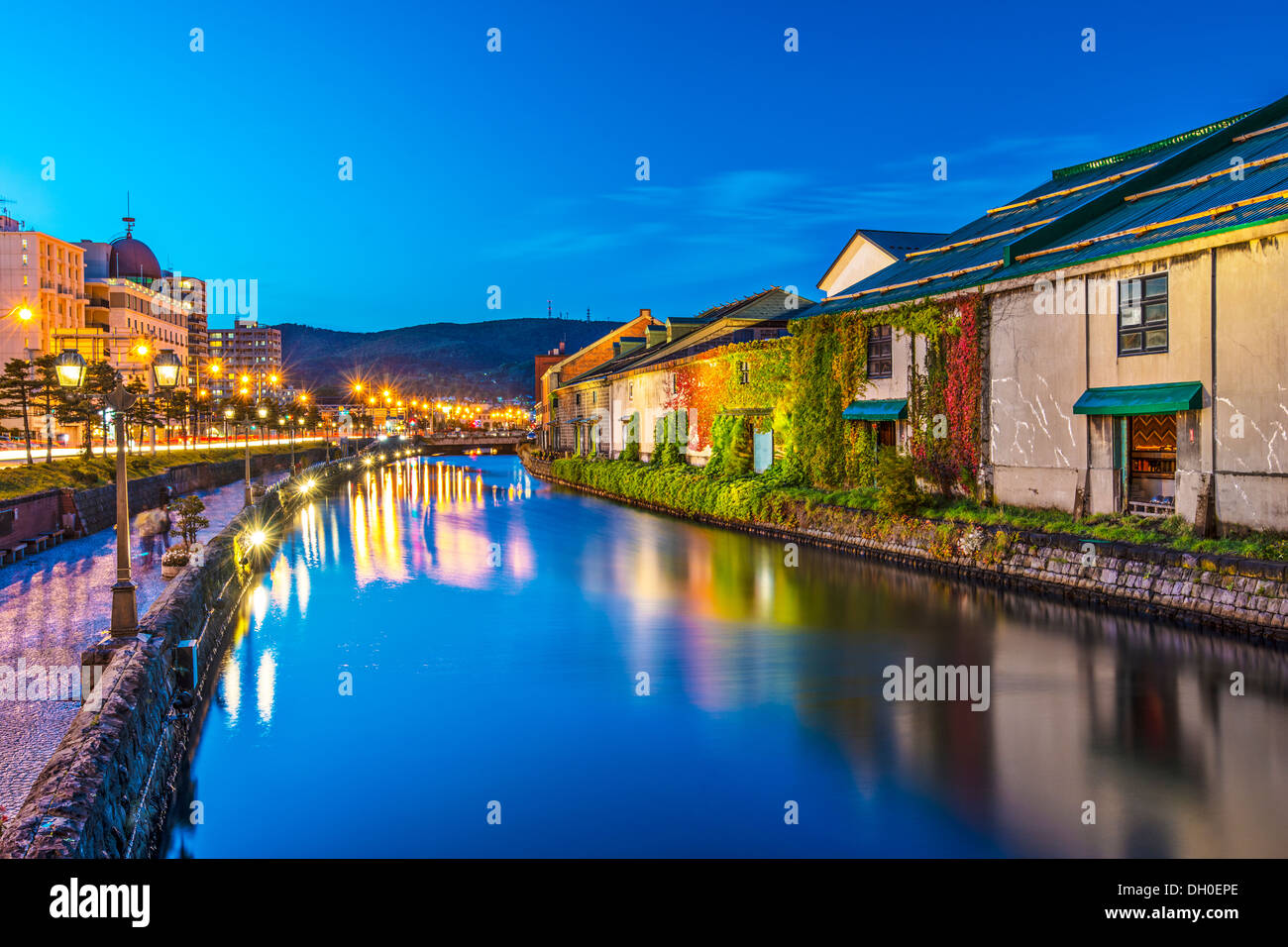 Canals of Otaru, Japan. - Stock Image