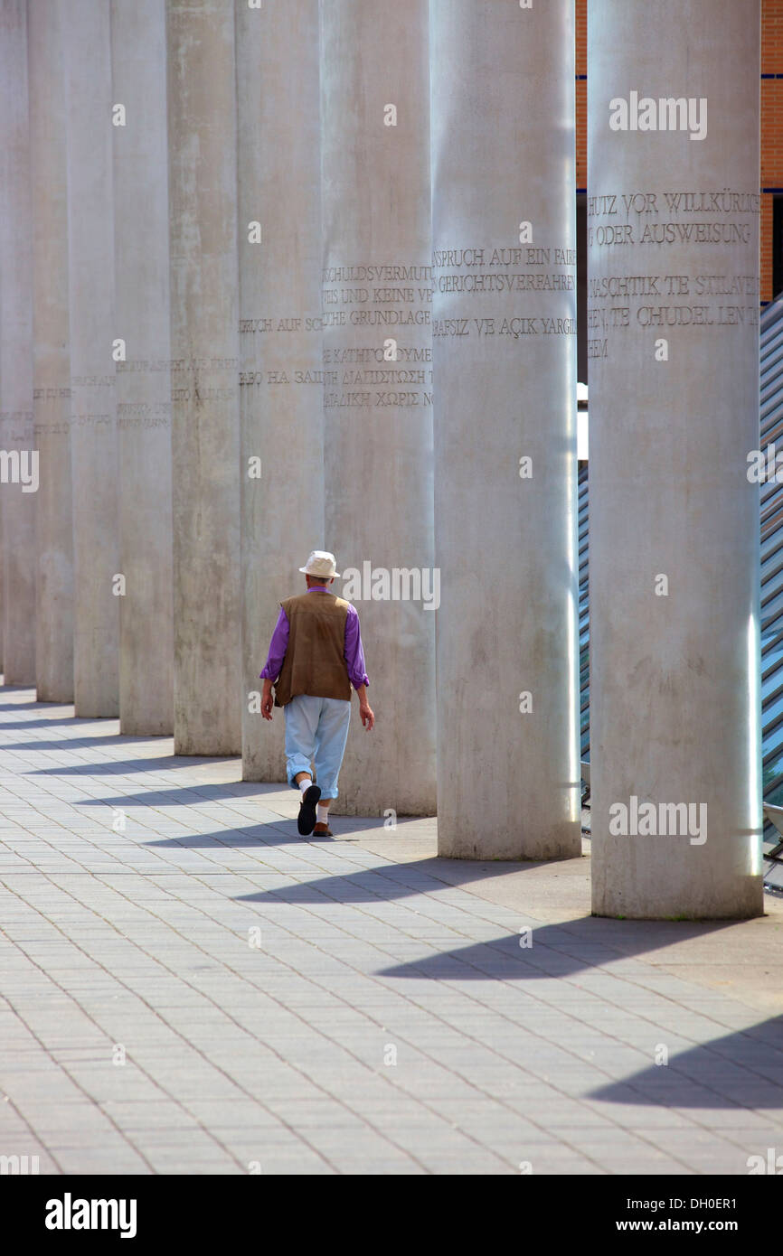 Way of Human Rights, Nuremberg, Bavaria, Germany, Europe - Stock Image