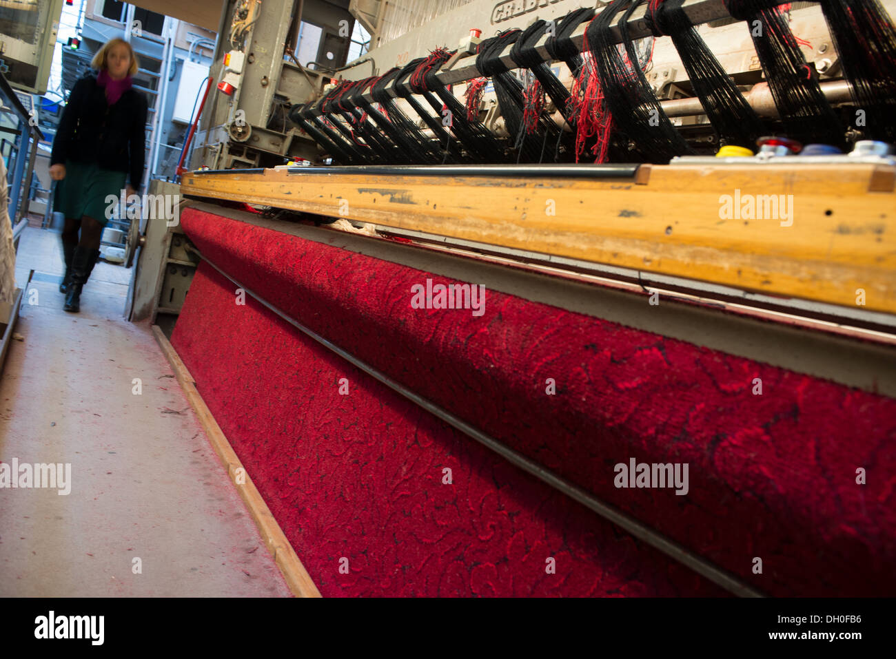 The Axminster Carpets factory works again after businessman Stephen Boyd bought it out of administration. - Stock Image