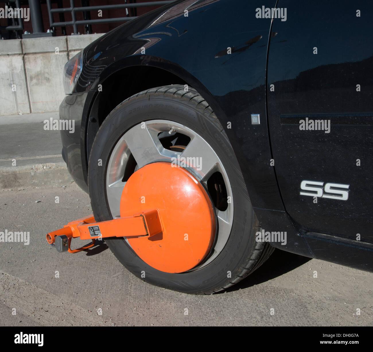 Wheel Boot, Traffic Violation - Stock Image