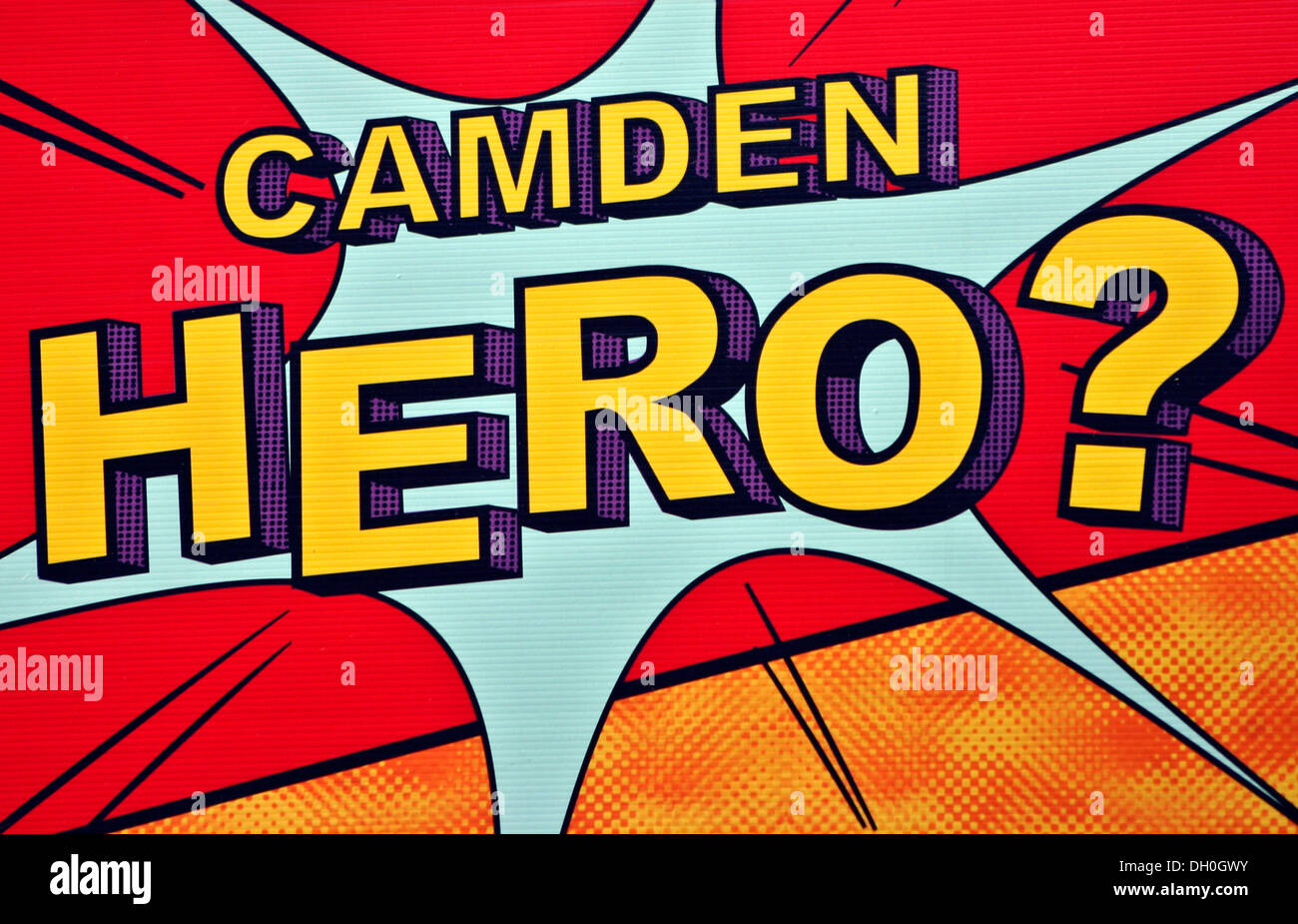 Roy Lichtenstein style poster Camden Hero Stock Photo: 62093527 - Alamy
