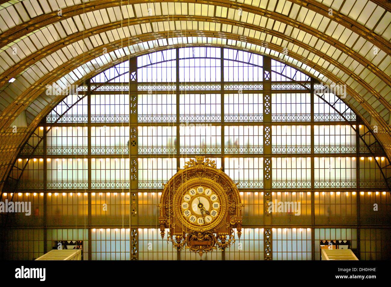 Musee d'Orsay Clock, Paris, France - Stock Image