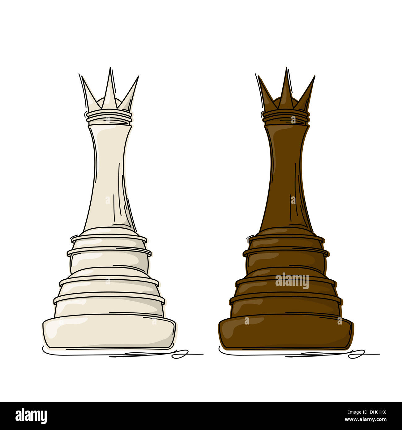 Chess queen - Stock Image