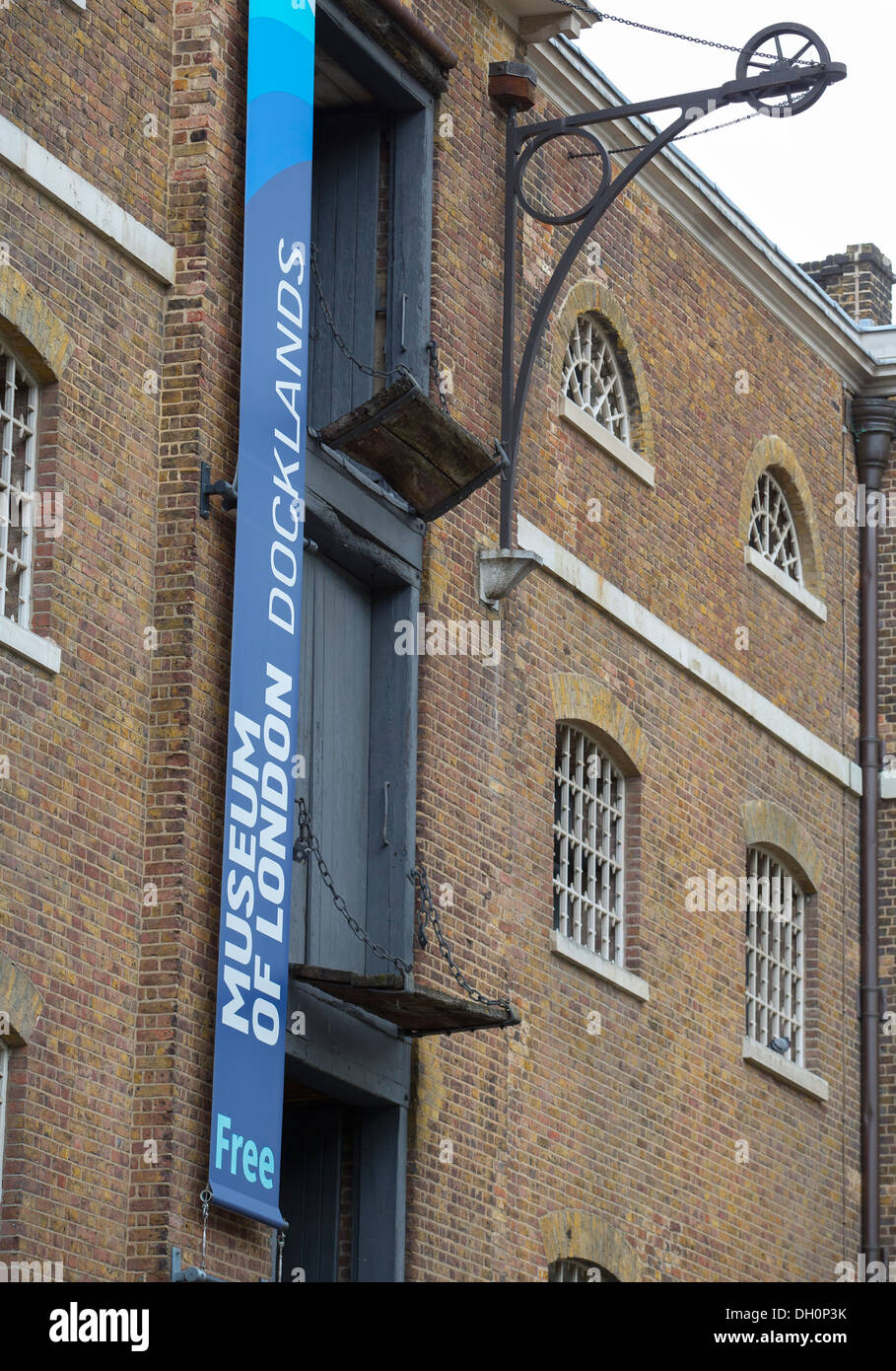 26/10/2013 Museum of London docklands, Canary Wharf, Docklands, London, England, UK - Stock Image