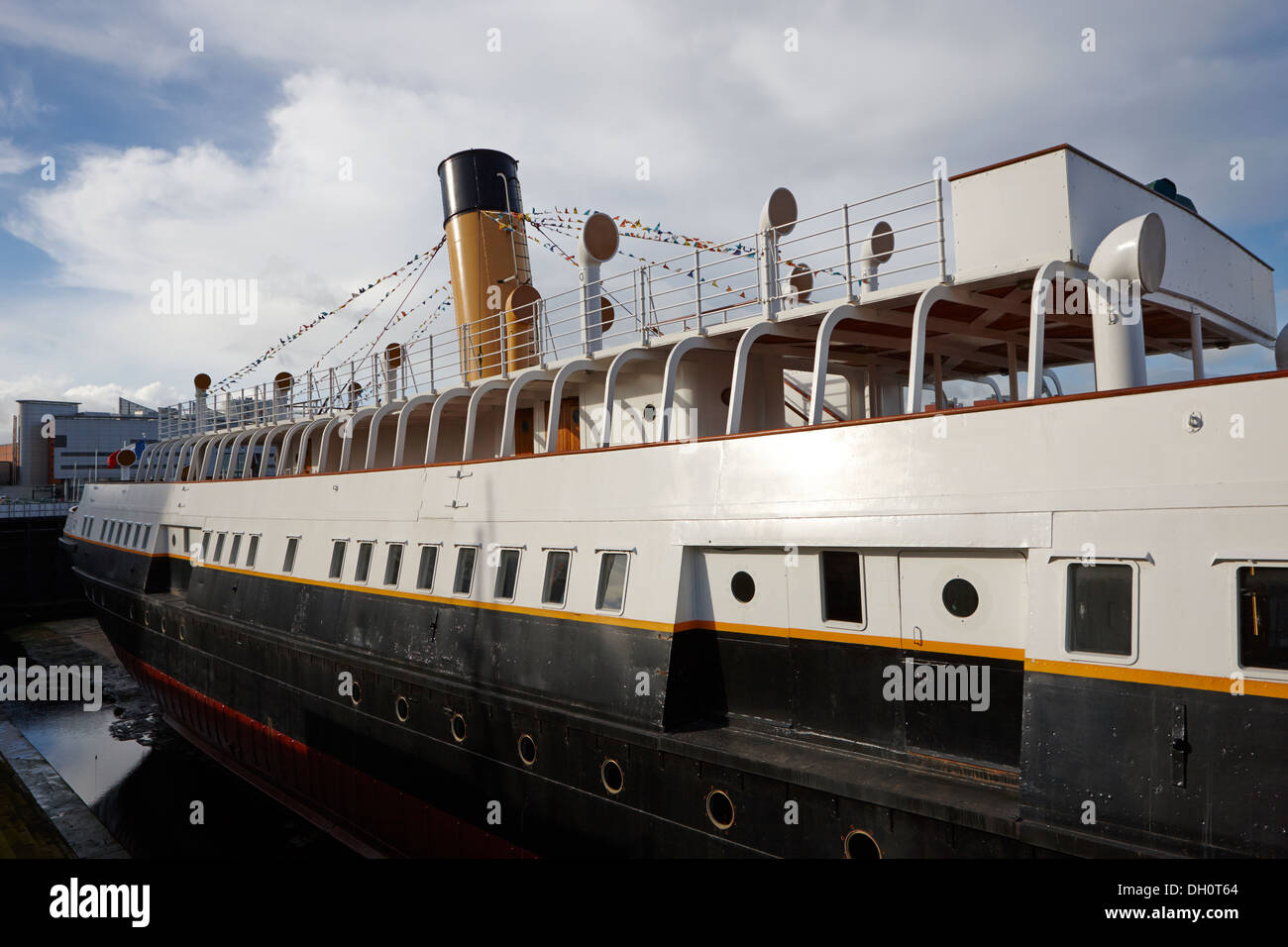 ss nomadic visitor attraction titanic quarter Belfast Northern Ireland - Stock Image
