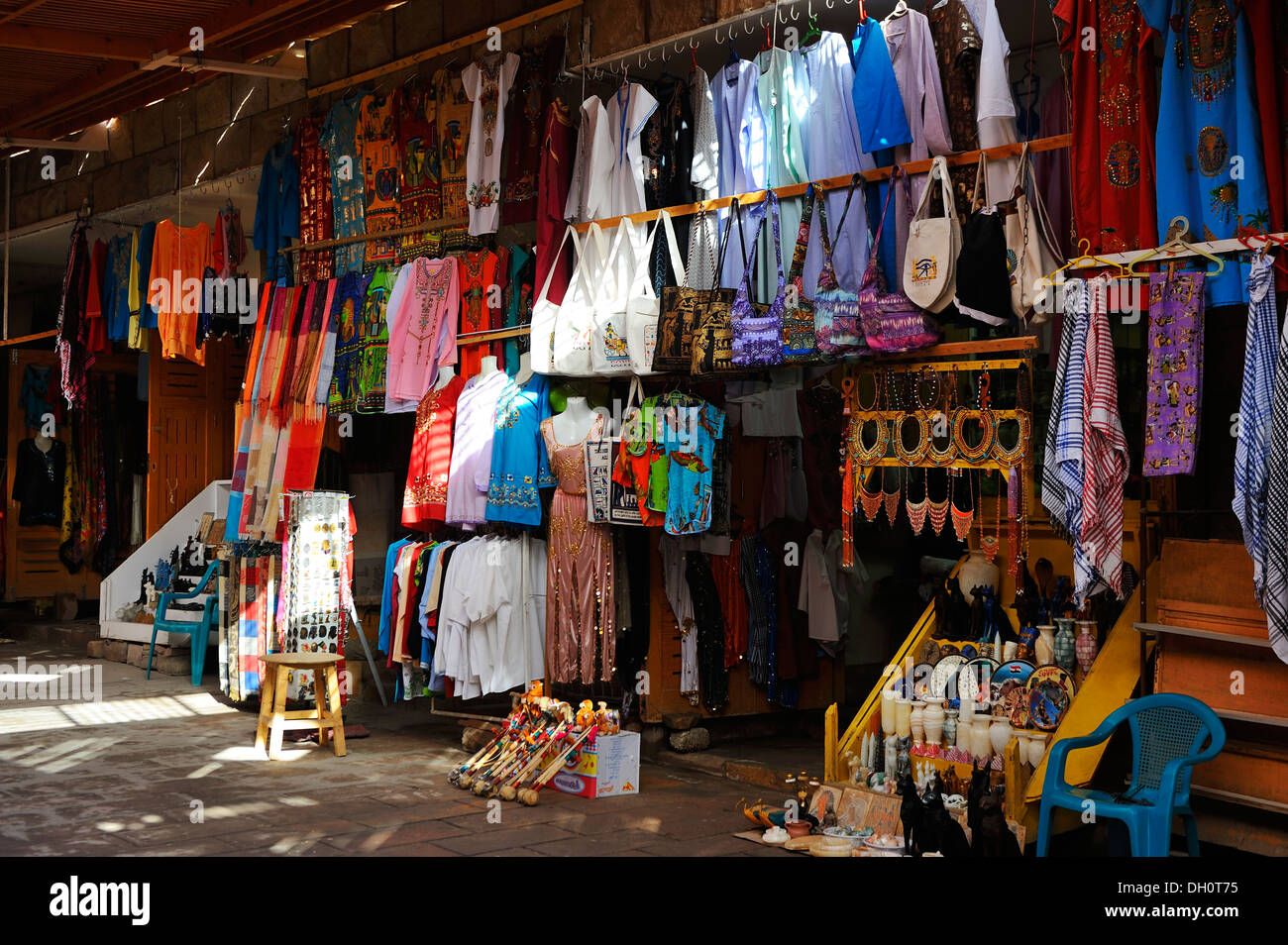 Tourist market, West Bank, Luxor, Upper Egypt - Stock Image