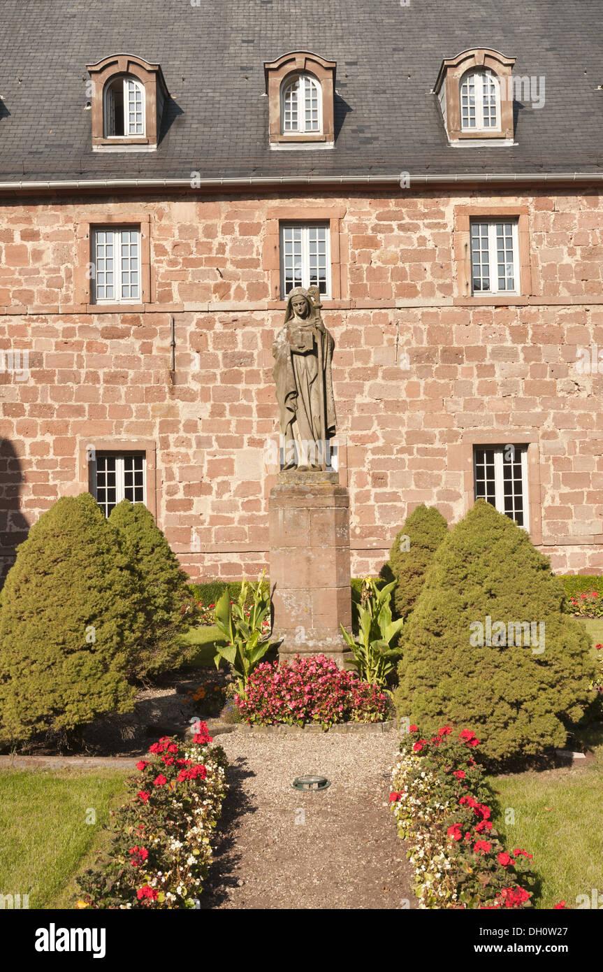 Elk213-1729v France, Alsace, Mont Sainte Odile, convent - Stock Image