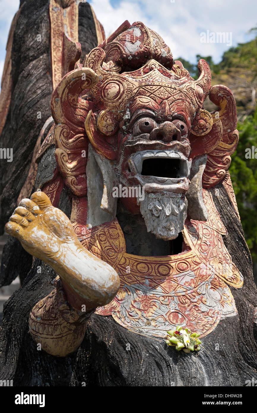 Guardian figure with a sacrifice, Hinduism, Bali, Indonesia, Southeast Asia, Asia - Stock Image
