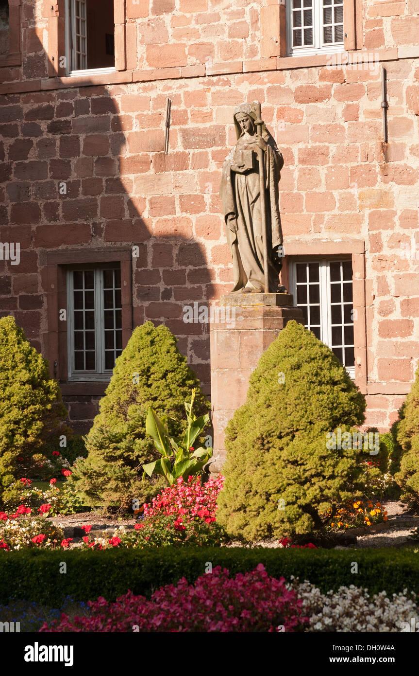 Elk213-1730v France, Alsace, Mont Sainte Odile, convent - Stock Image