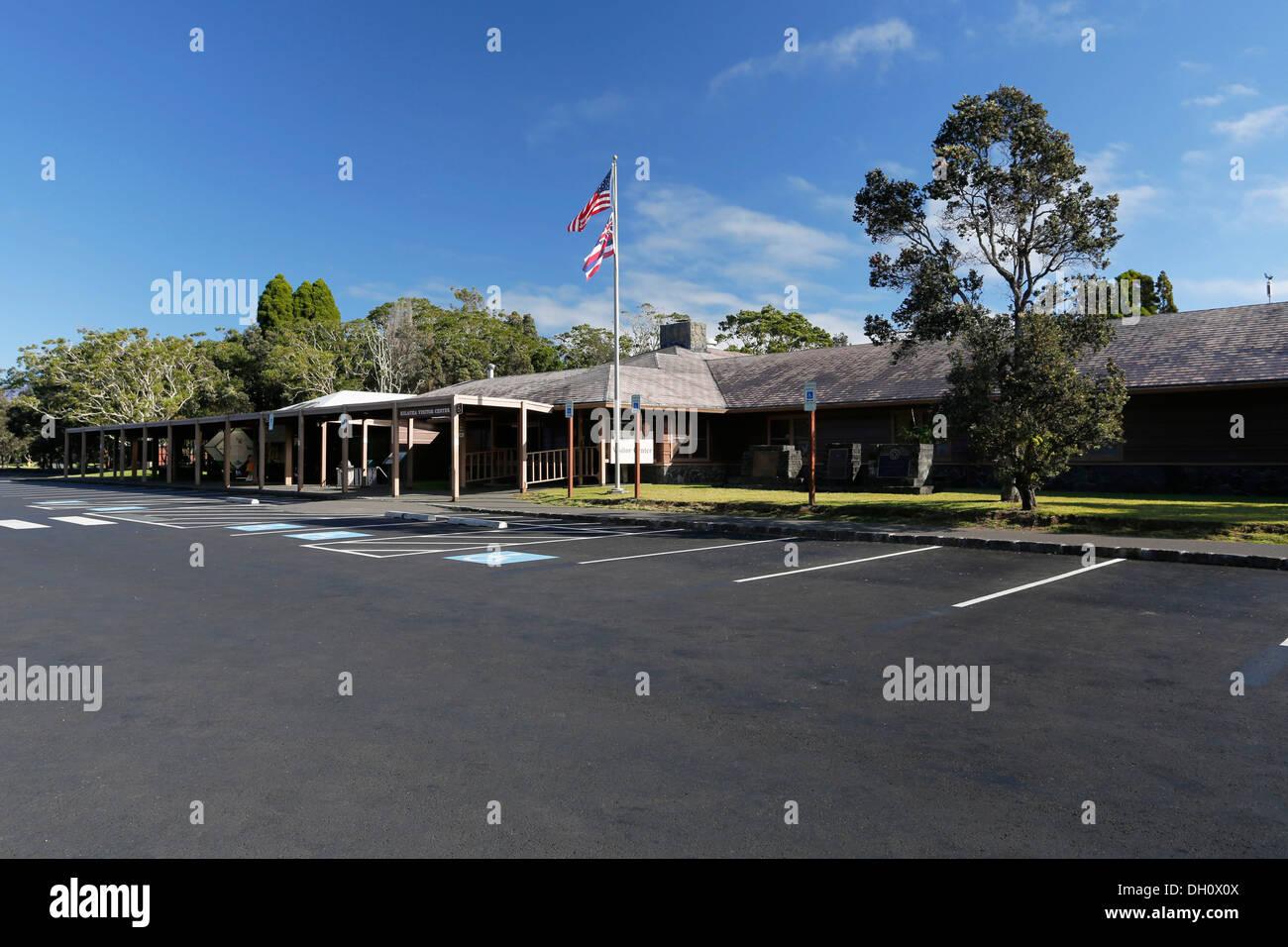 Kilauea Visitor Center, Hawaii Volcanoes National Park, Big Island, Hawaii, USA - Stock Image