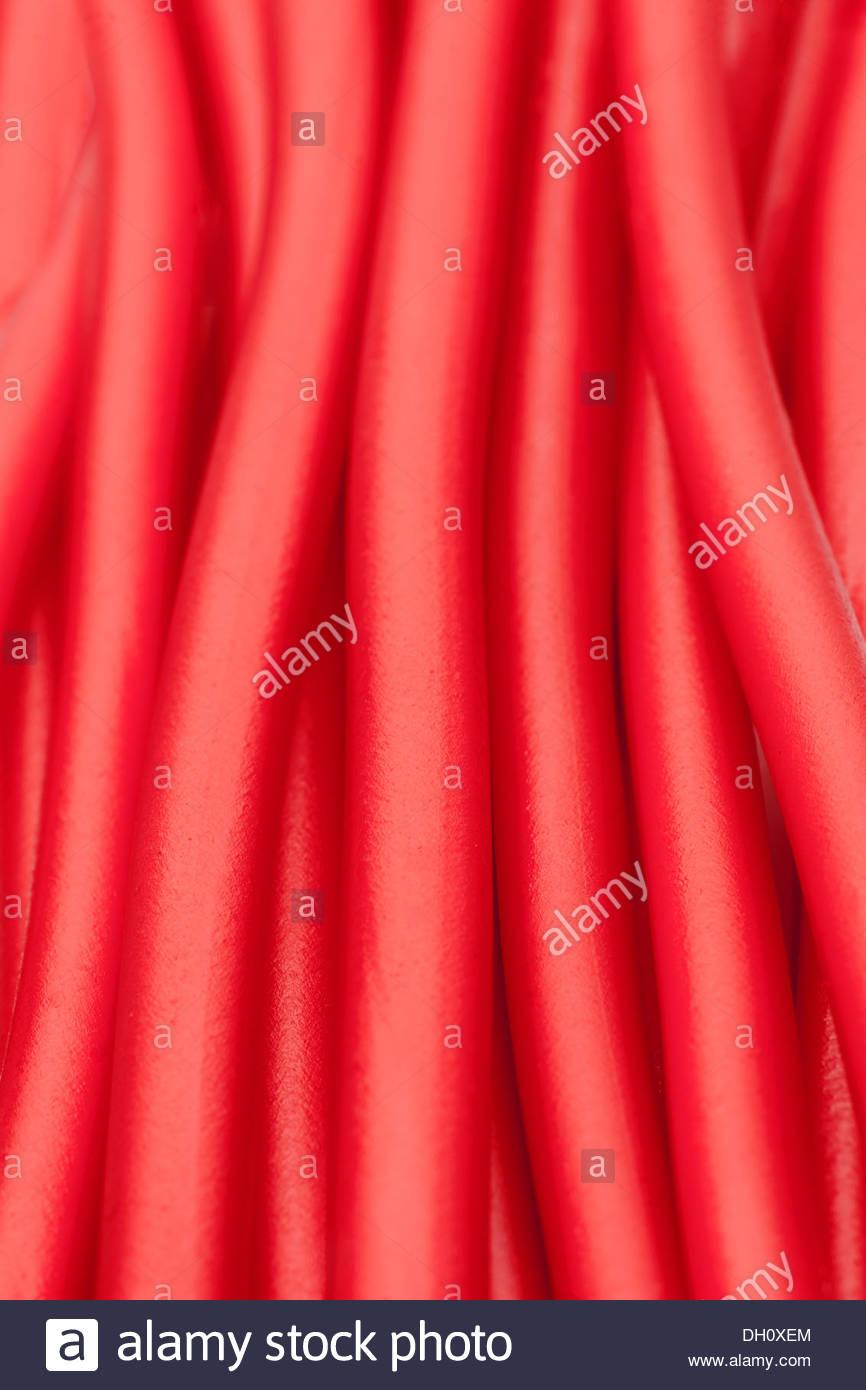 soft sticks bundle colored licorice - Stock Image