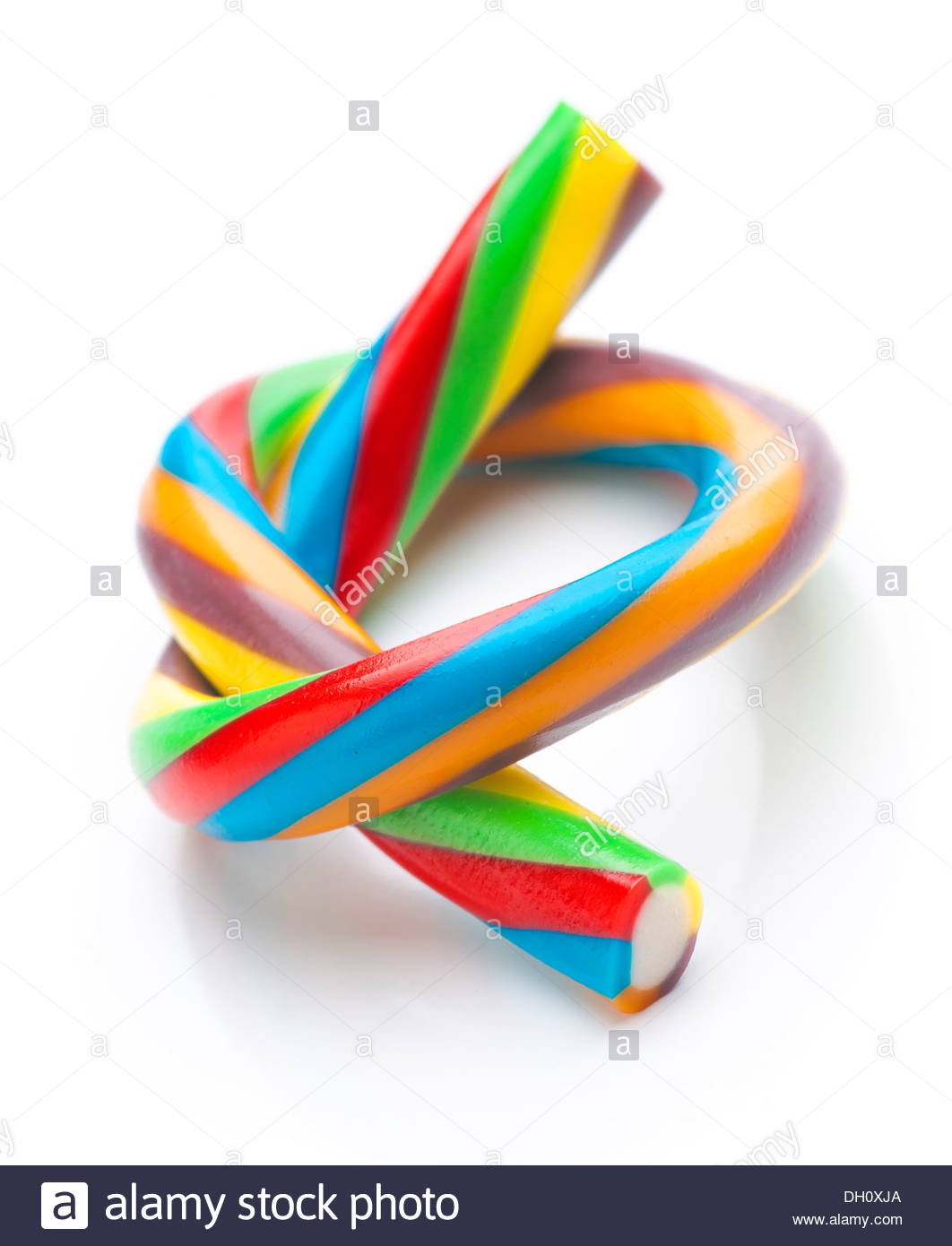 ties rods colored soft licorice - Stock Image