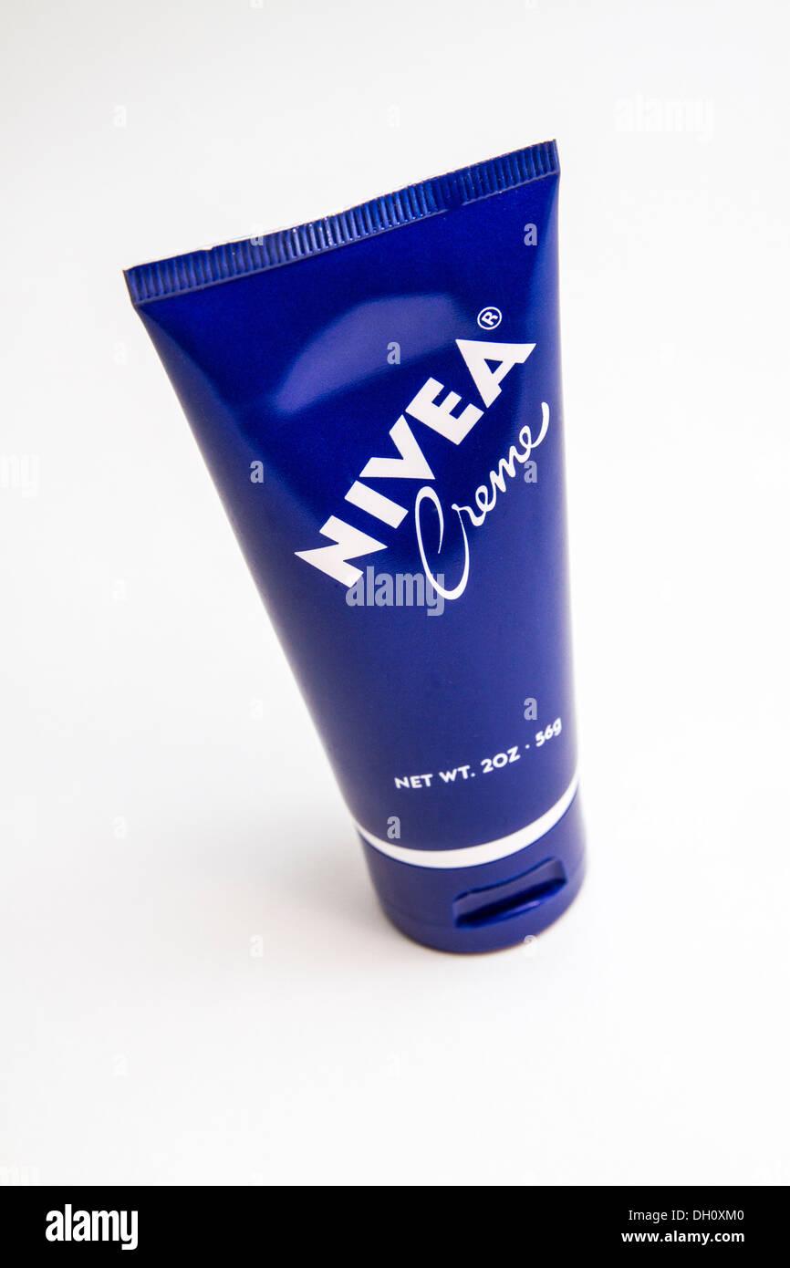 Nivea Cream in a travel size - Stock Image