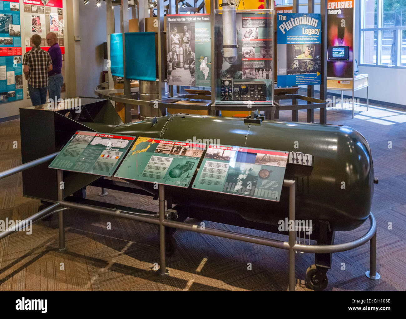 Model of the atomic bomb 'Little Boy' dropped on Japan in WWII, The Bradbury Science Museum, Los Alamos, - Stock Image