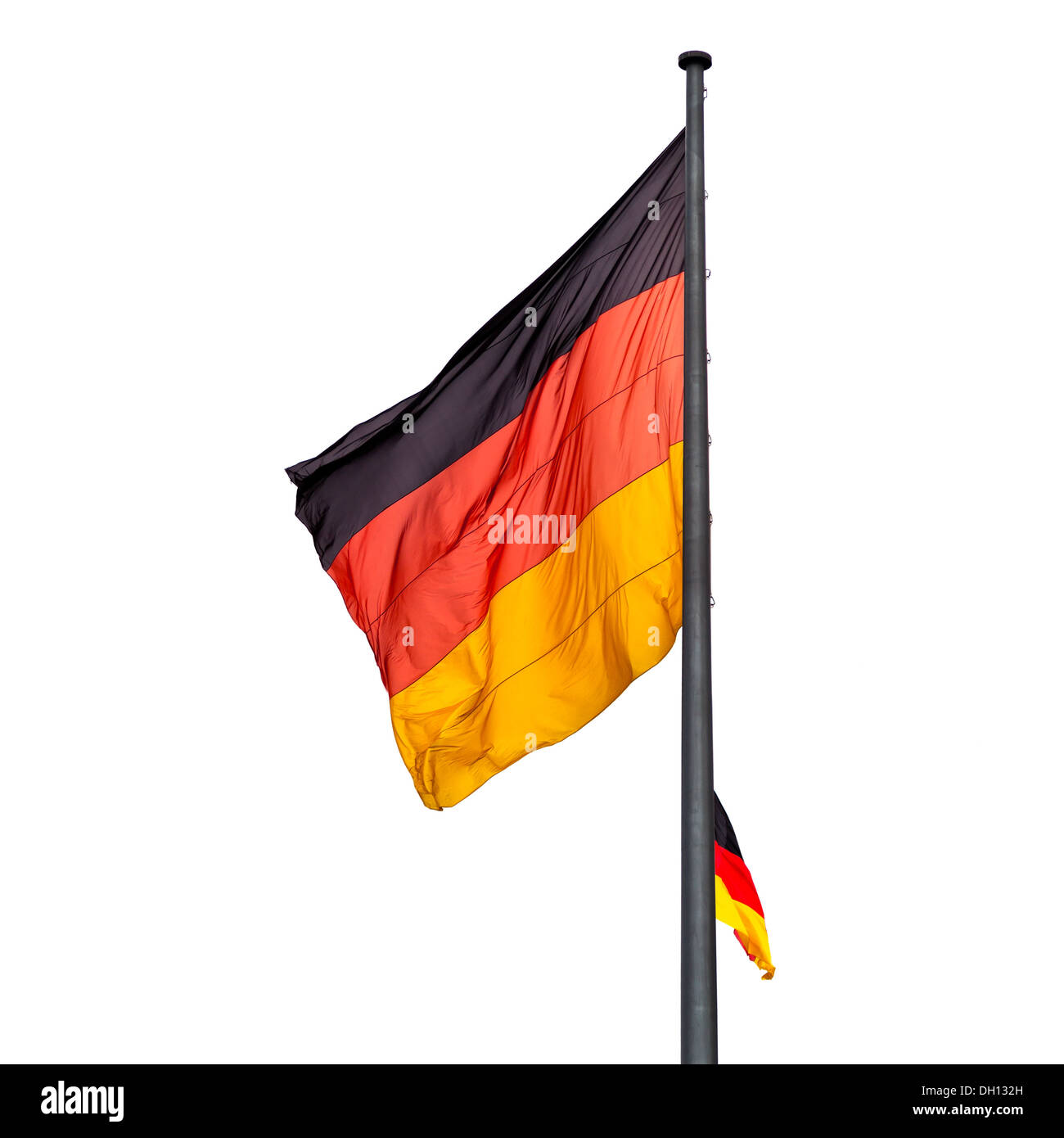 German state flags outdoors - Stock Image
