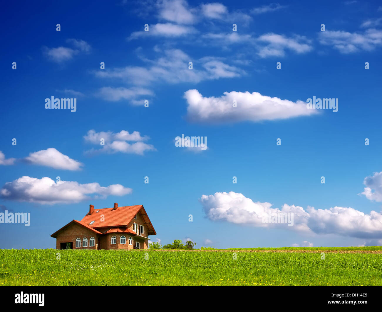 Warm your house - Stock Image