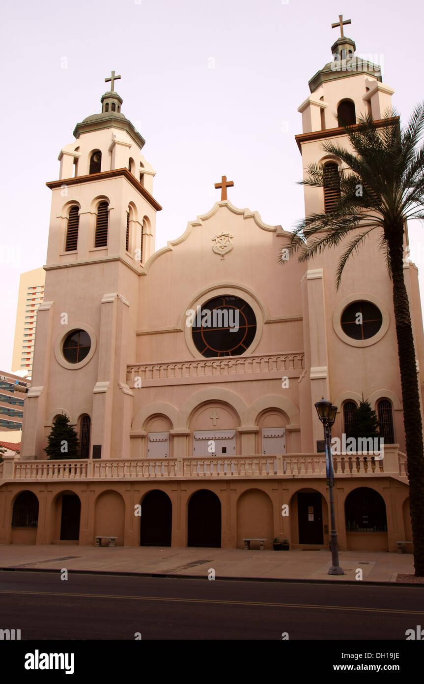 saint st marys basilica catholic church phoenix arizona az mary's immaculate conception blessed virgin mary - Stock Image