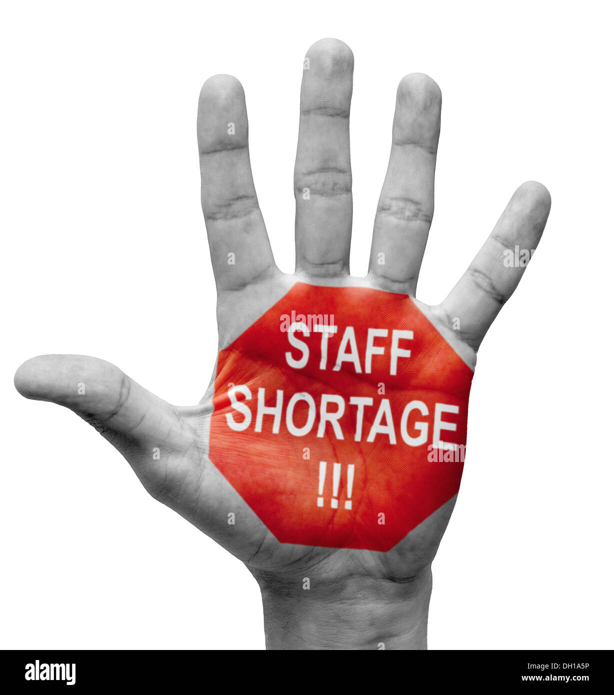 Staff Shortage. Stop Concept. - Stock Image